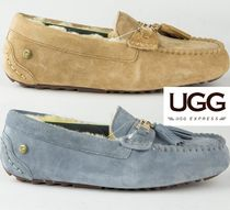 UGG Australia Casual Style Suede Plain Loafer Pumps & Mules