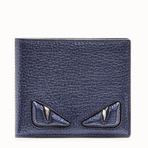FENDI BAG BUGS Calfskin Plain Folding Wallet Folding Wallets
