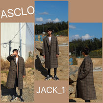 ASCLO Other Check Patterns Wool Street Style Long Coats