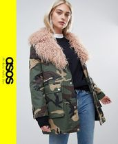 ASOS Camouflage Casual Style Faux Fur Jackets