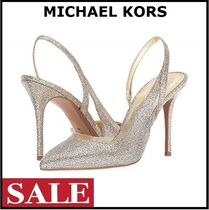Michael Kors Plain Pin Heels Elegant Style Stiletto Pumps & Mules