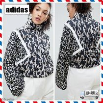 adidas Short Leopard Patterns Casual Style Street Style Jackets