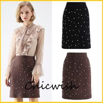 Chicwish Pencil Skirts Short With Jewels Skirts