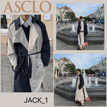 ASCLO Street Style Long Oversized Chester Coats