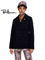 Ron Herman Casual Style Wool Plain Medium Handmade Peacoats