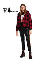 Ron Herman Short Tartan Star Wool Handmade Bomber Jackets