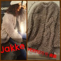 Jakke Faux Fur Plain Medium Cashmere & Fur Coats