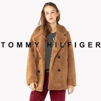 Tommy Hilfiger Casual Style Unisex Faux Fur Street Style Plain Medium