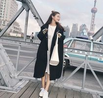 Casual Style Plain Long Oversized Duffle Coats