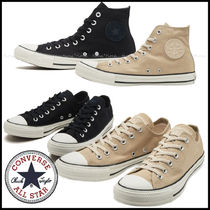 CONVERSE ALL STAR Plain Toe Unisex Suede Street Style Plain Low-Top Sneakers