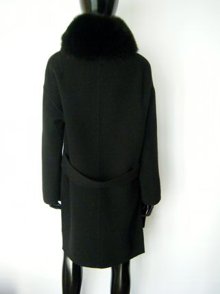 HERNO More Coats Wool Plain Long Coats 7