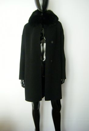 HERNO More Coats Wool Plain Long Coats 15