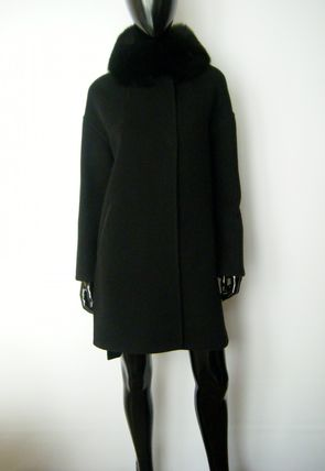 HERNO More Coats Wool Plain Long Coats 2