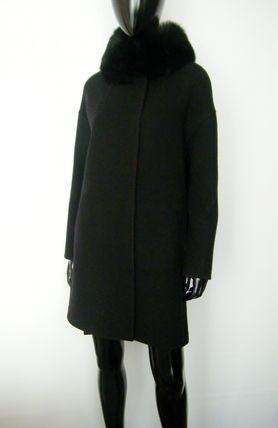 HERNO More Coats Wool Plain Long Coats 9