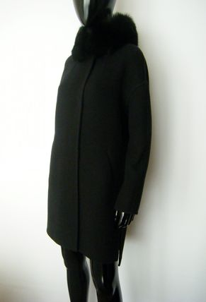 HERNO More Coats Wool Plain Long Coats 20