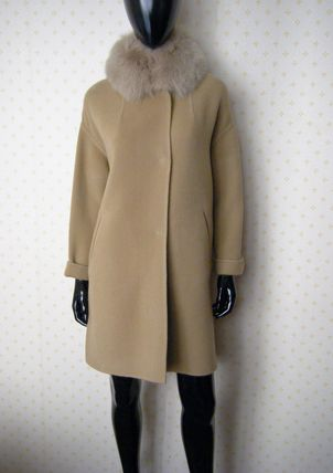 HERNO More Coats Wool Plain Long Coats 3