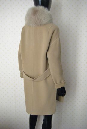 HERNO More Coats Wool Plain Long Coats 8