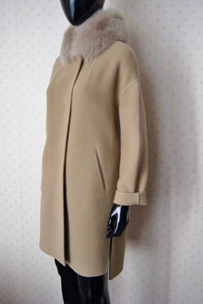 HERNO More Coats Wool Plain Long Coats 14