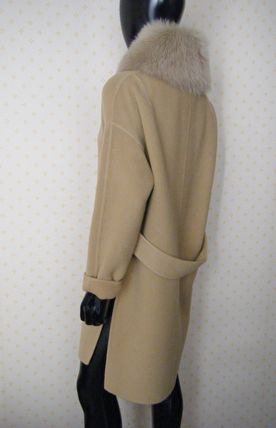 HERNO More Coats Wool Plain Long Coats 17