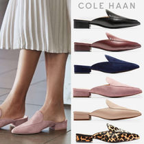 Cole Haan Leopard Patterns Rubber Sole Casual Style Plain Leather