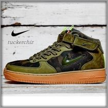 Nike AIR FORCE 1 Camouflage Street Style Sneakers