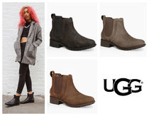 UGG Australia Rubber Sole Plain Leather Chelsea Boots