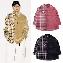 AJO AJOBYAJO Other Check Patterns Unisex Corduroy Street Style