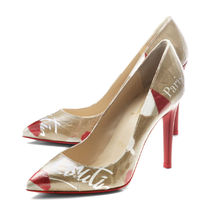Christian Louboutin PVC Clothing Elegant Style Pointed Toe Pumps & Mules