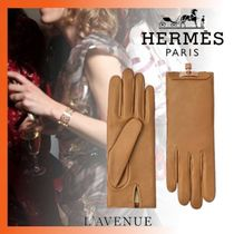 HERMES Cashmere Plain Smartphone Use Gloves