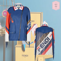 FENDI Star Casual Style Street Style Leather Medium Fringes