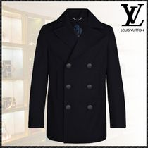 Louis Vuitton Short Wool Plain Peacoats Coats