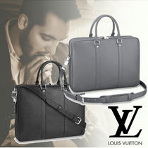 Louis Vuitton TAIGA 2WAY Plain Leather Business & Briefcases