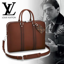 Louis Vuitton 2WAY Plain Leather Business & Briefcases