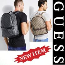 Guess Unisex Faux Fur Street Style A4 2WAY Backpacks