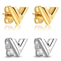Louis Vuitton V Elegant Style Earrings & Piercings