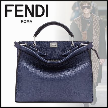 1f8eb26352db ... EYES 5 FENDI Business   Briefcases FENDI MINI PEEKABOO FIT BLUE LEATHER  BAG BAG BUGS ...