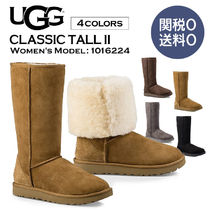 UGG Australia Casual Style Fur Street Style Plain Over-the-Knee Boots