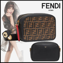 FENDI Monogram Calfskin 2WAY Elegant Style Shoulder Bags