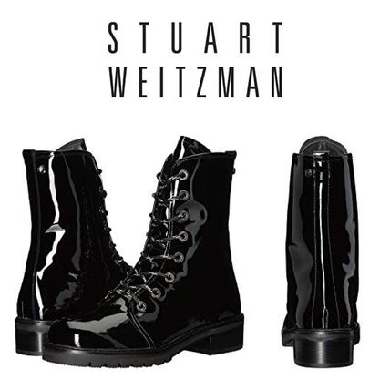 Casual Style Enamel Boots Boots