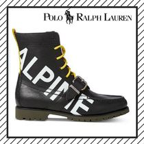 POLO RALPH LAUREN Plain Toe Mountain Boots Street Style Leather Outdoor Boots