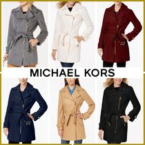Michael Kors Plain Medium Down Jackets