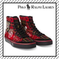 POLO RALPH LAUREN Skull Other Check Patterns Street Style Sneakers