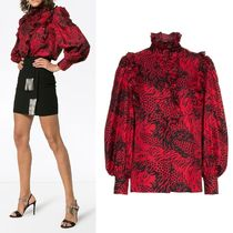 GUCCI Silk Street Style Long Sleeves Other Animal Patterns