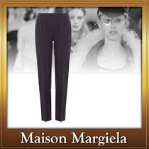 Maison Martin Margiela Wool Plain Medium Elegant Style Cropped & Capris Pants