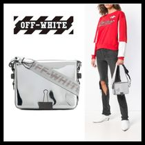 Off-White BINDER CLIP Casual Style Street Style 2WAY Plain Shoulder Bags