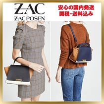 ZAC ZAC POSEN Calfskin 2WAY Plain Elegant Style Backpacks
