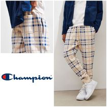 CHAMPION Other Check Patterns Street Style Joggers & Sweatpants