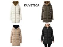 DUVETICA Street Style Medium Khaki Down Jackets