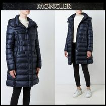 MONCLER HERMINE Blended Fabrics Street Style Plain Long Down Jackets