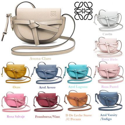 Casual Style Calfskin Plain Leather Elegant Style Crossbody
